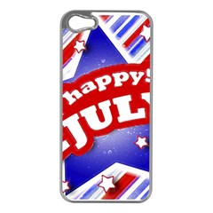 4th of July Celebration Design Apple iPhone 5 Case (Silver)