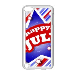 4th of July Celebration Design Apple iPod Touch 5 Case (White)
