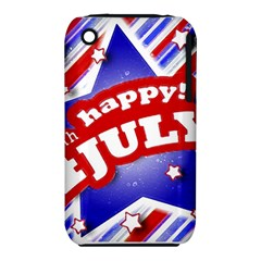 4th Of July Celebration Design Apple Iphone 3g/3gs Hardshell Case (pc+silicone)