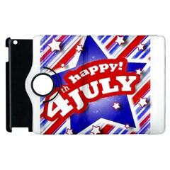 4th of July Celebration Design Apple iPad 3/4 Flip 360 Case
