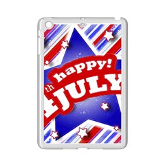 4th of July Celebration Design Apple iPad Mini 2 Case (White)