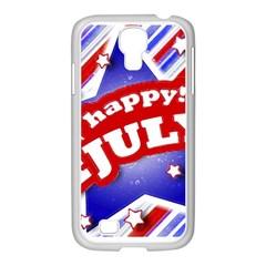 4th of July Celebration Design Samsung GALAXY S4 I9500/ I9505 Case (White)