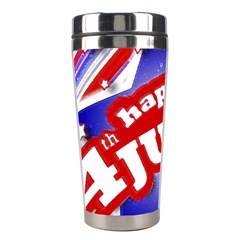 4th of July Celebration Design Stainless Steel Travel Tumbler