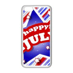 4th of July Celebration Design Apple iPhone 5C Seamless Case (White)
