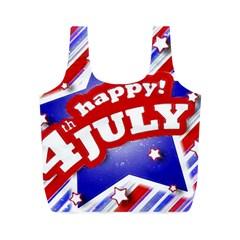 4th of July Celebration Design Reusable Bag (M)
