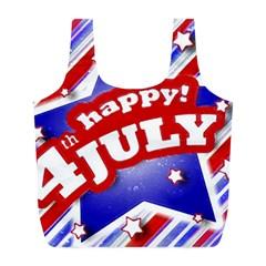 4th Of July Celebration Design Reusable Bag (l)