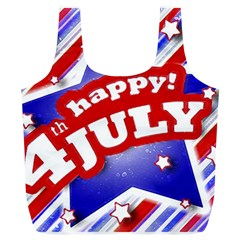 4th of July Celebration Design Reusable Bag (XL)