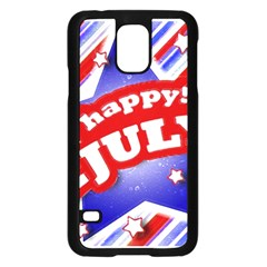 4th of July Celebration Design Samsung Galaxy S5 Case (Black)