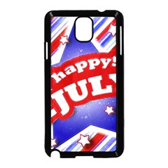 4th of July Celebration Design Samsung Galaxy Note 3 Neo Hardshell Case (Black)
