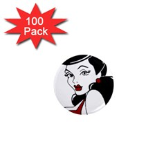 Pin Up 1  Mini Button Magnet (100 pack)