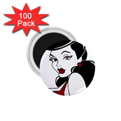 Pin Up 1.75  Button Magnet (100 pack)