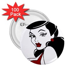 Pin Up 2.25  Button (100 pack)