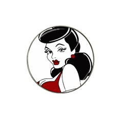 Pin Up Golf Ball Marker 4 Pack (for Hat Clip)