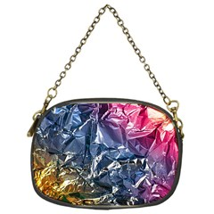 Texture   Rainbow Foil By Dori Stock Chain Purse (one Side)