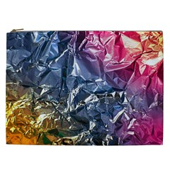 Texture   Rainbow Foil By Dori Stock Cosmetic Bag (xxl)