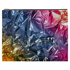 Texture   Rainbow Foil By Dori Stock Cosmetic Bag (XXXL)