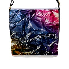 Texture   Rainbow Foil By Dori Stock Flap Closure Messenger Bag (Large)