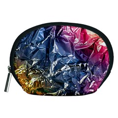Texture   Rainbow Foil By Dori Stock Accessory Pouch (medium)