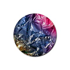 Texture   Rainbow Foil By Dori Stock Drink Coaster (Round)