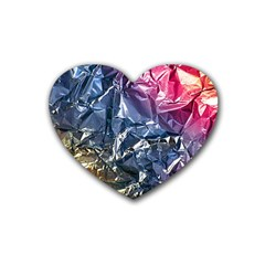 Texture   Rainbow Foil By Dori Stock Drink Coasters 4 Pack (Heart)