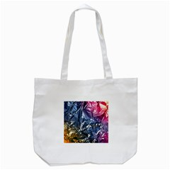 Texture   Rainbow Foil By Dori Stock Tote Bag (White)