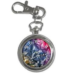 Texture   Rainbow Foil By Dori Stock Key Chain Watch