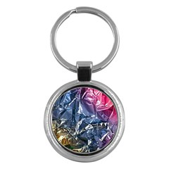 Texture   Rainbow Foil By Dori Stock Key Chain (round)