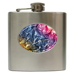 Texture   Rainbow Foil By Dori Stock Hip Flask