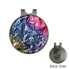 Texture   Rainbow Foil By Dori Stock Hat Clip with Golf Ball Marker