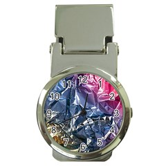 Texture   Rainbow Foil By Dori Stock Money Clip with Watch