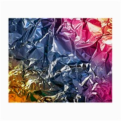 Texture   Rainbow Foil By Dori Stock Glasses Cloth (Small, Two Sided)