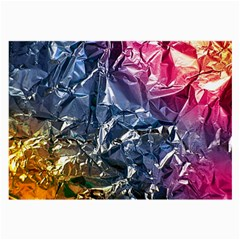 Texture   Rainbow Foil By Dori Stock Glasses Cloth (Large, Two Sided)