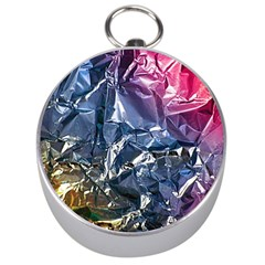 Texture   Rainbow Foil By Dori Stock Silver Compass