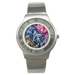 Texture   Rainbow Foil By Dori Stock Stainless Steel Watch (slim)