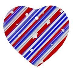 American Motif Heart Ornament