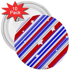 American Motif 3  Button (10 Pack)