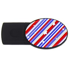American Motif 2gb Usb Flash Drive (oval)