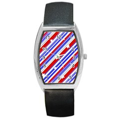 American Motif Tonneau Leather Watch
