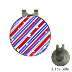 American Motif Hat Clip with Golf Ball Marker