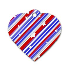 American Motif Dog Tag Heart (One Sided)