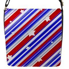 American Motif Flap Closure Messenger Bag (Small)