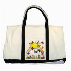 Butterfly Rainbow Days Two Toned Tote Bag