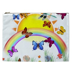 Butterfly Rainbow Days Cosmetic Bag (xxl)