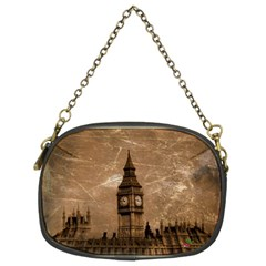 Antiqued Big Ben Chain Purse (two Sided)