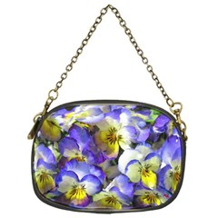 Painted Pansies Chain Purse (one Side)