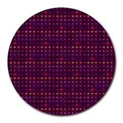 Funky Retro Pattern 8  Mouse Pad (round)