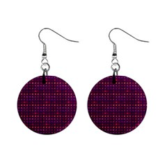 Funky Retro Pattern Mini Button Earrings