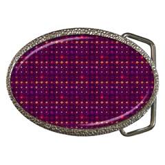 Funky Retro Pattern Belt Buckle (oval)
