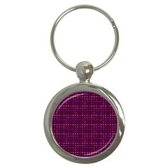 Funky Retro Pattern Key Chain (round)