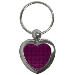 Funky Retro Pattern Key Chain (heart)